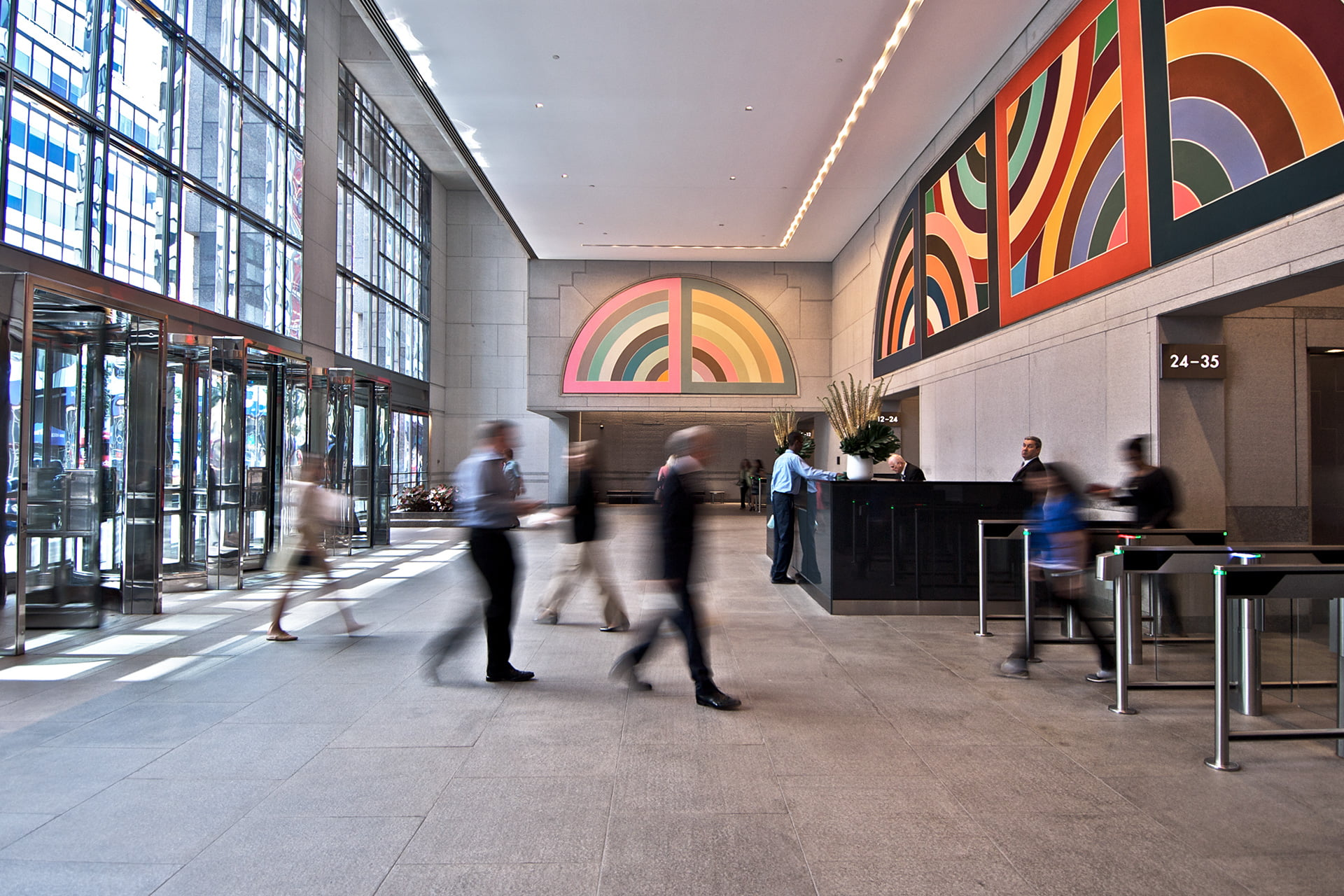 Interior lobby at 199 Water Street