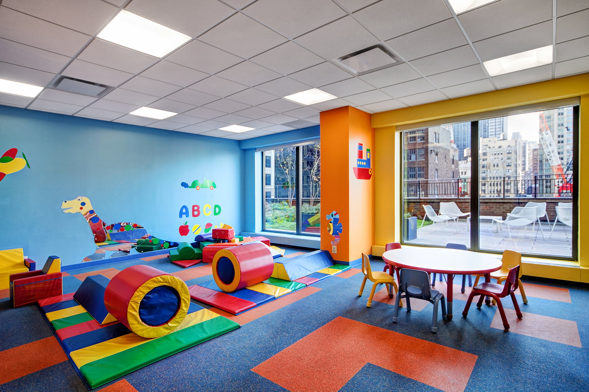 Symphony house children's playroom.