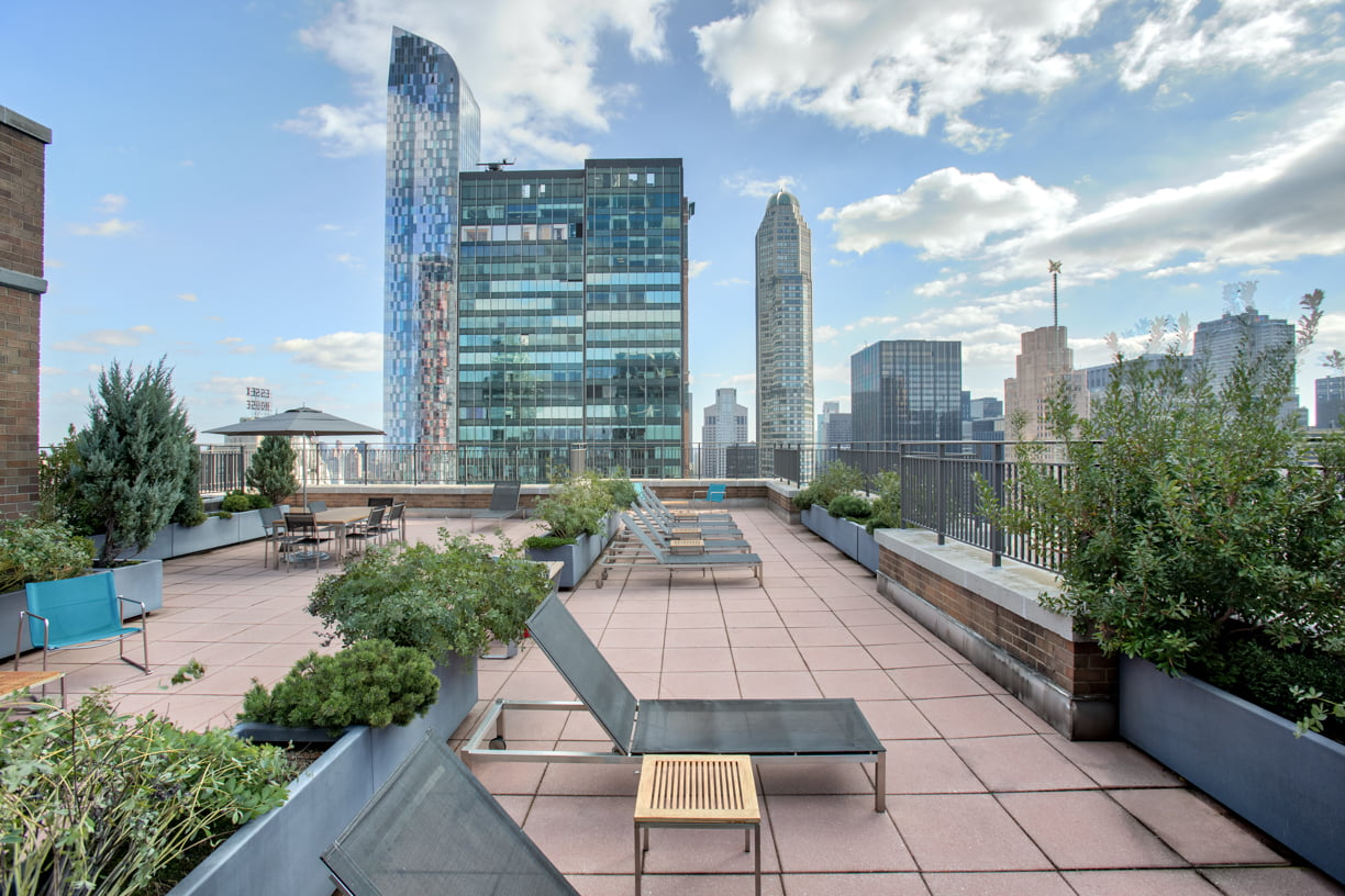 Sun Deck atop Symphony House at 235 West 56th Street
