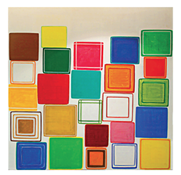 Dan Walsh's artwork displayed at 250 Hudson Street.