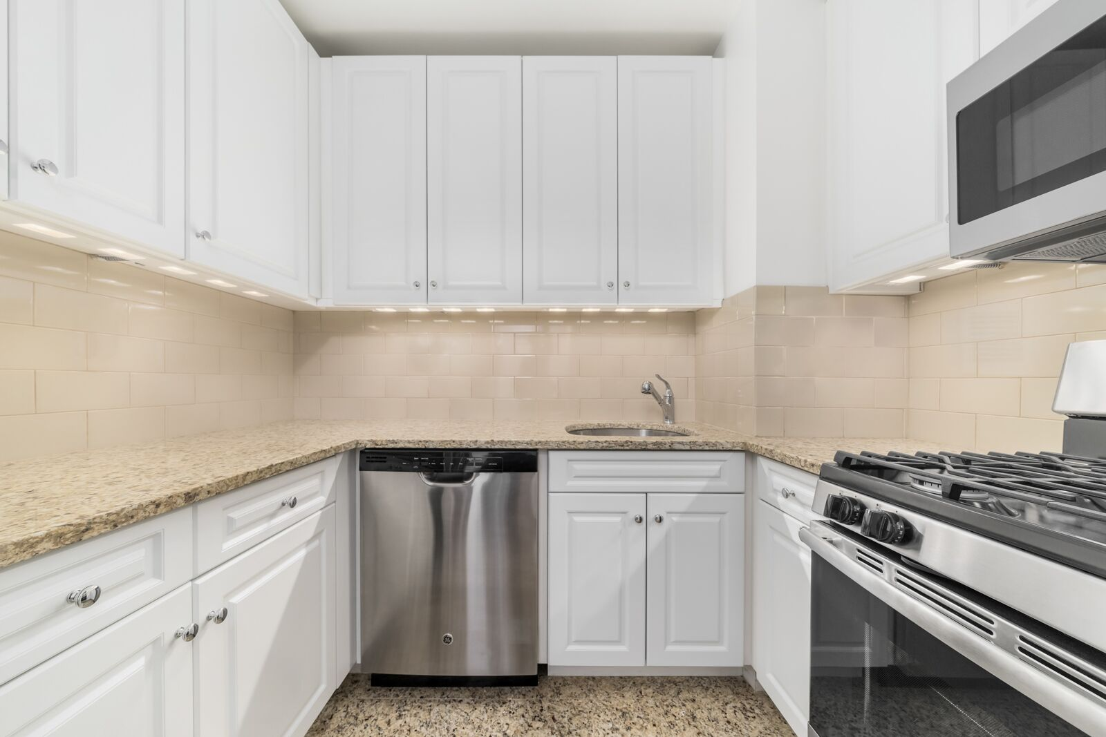 View of Symphony House apartment kitchen located at 235 West 56th Street