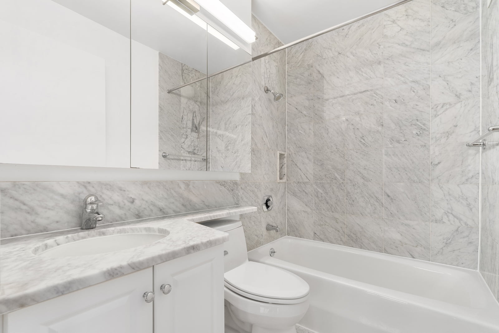View of Symphony House apartment powder room located at 235 West 56th Street