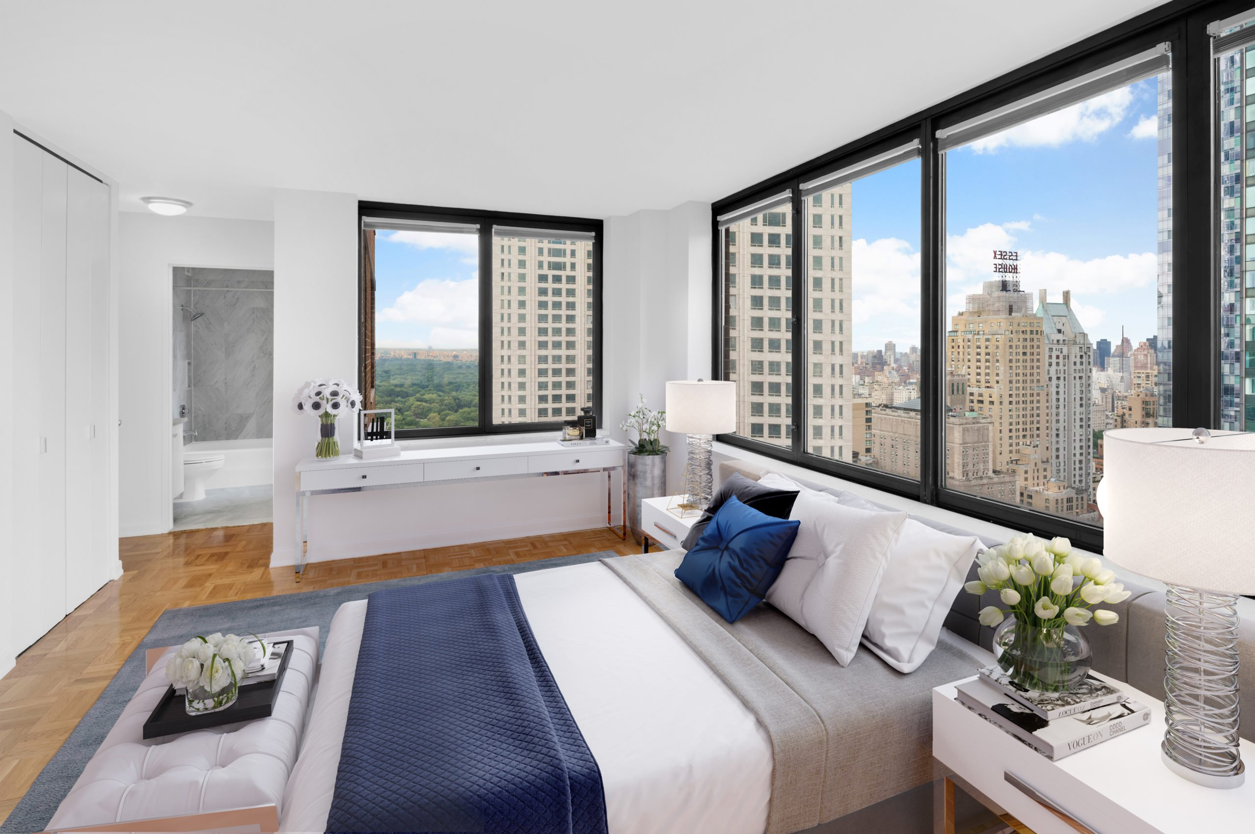 View of Symphony House apartment bedroom located at 235 West 56th Street