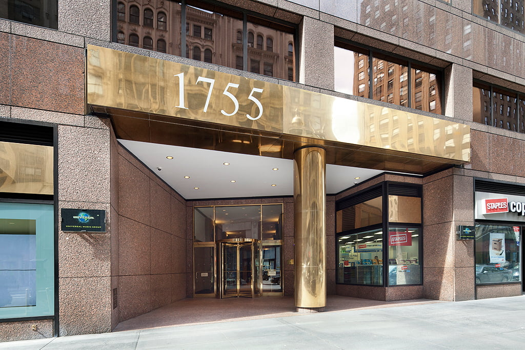 View of exterior entryway at 1755 Broadway