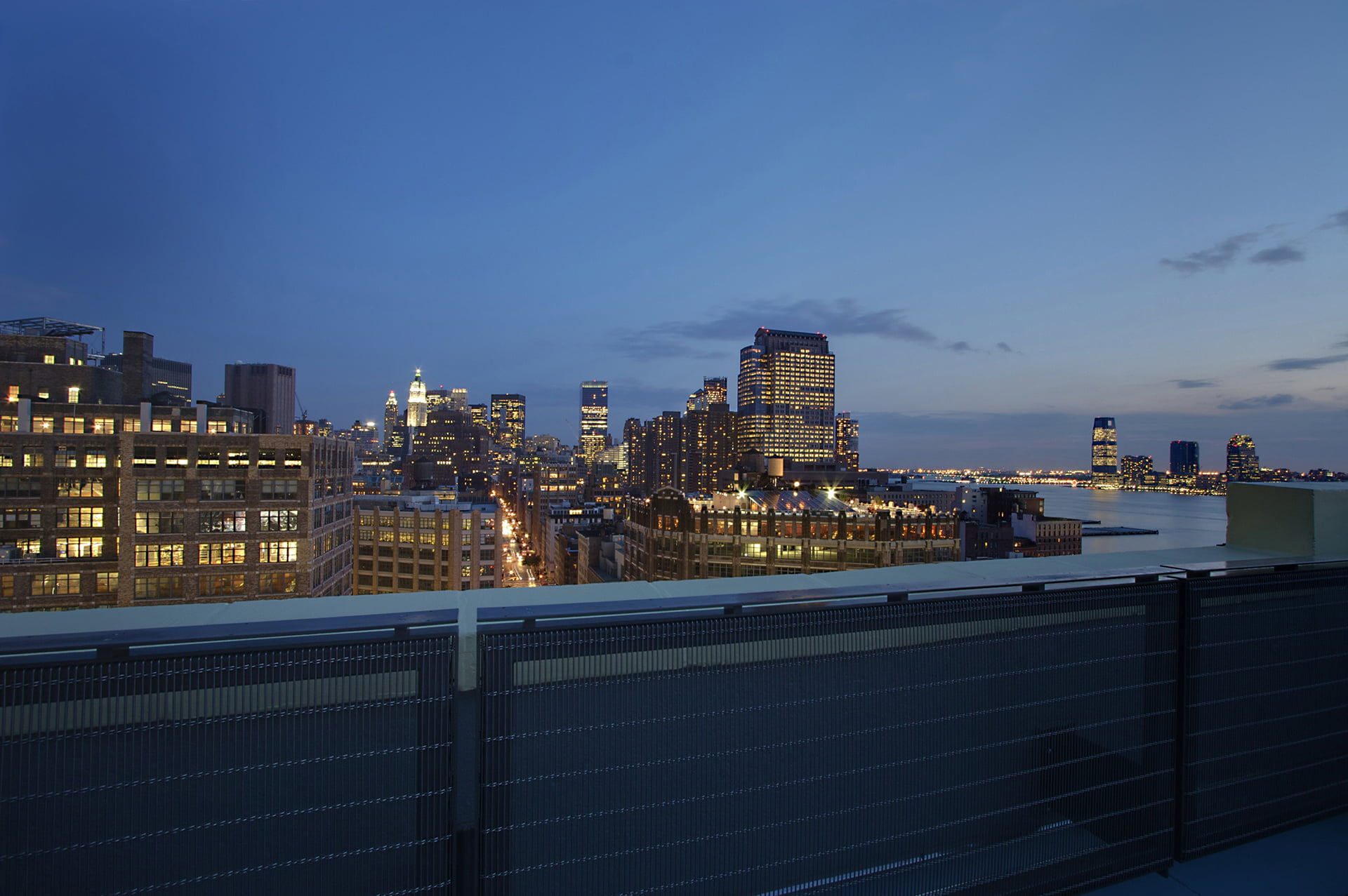 South view from green roof at 250 Hudson Street