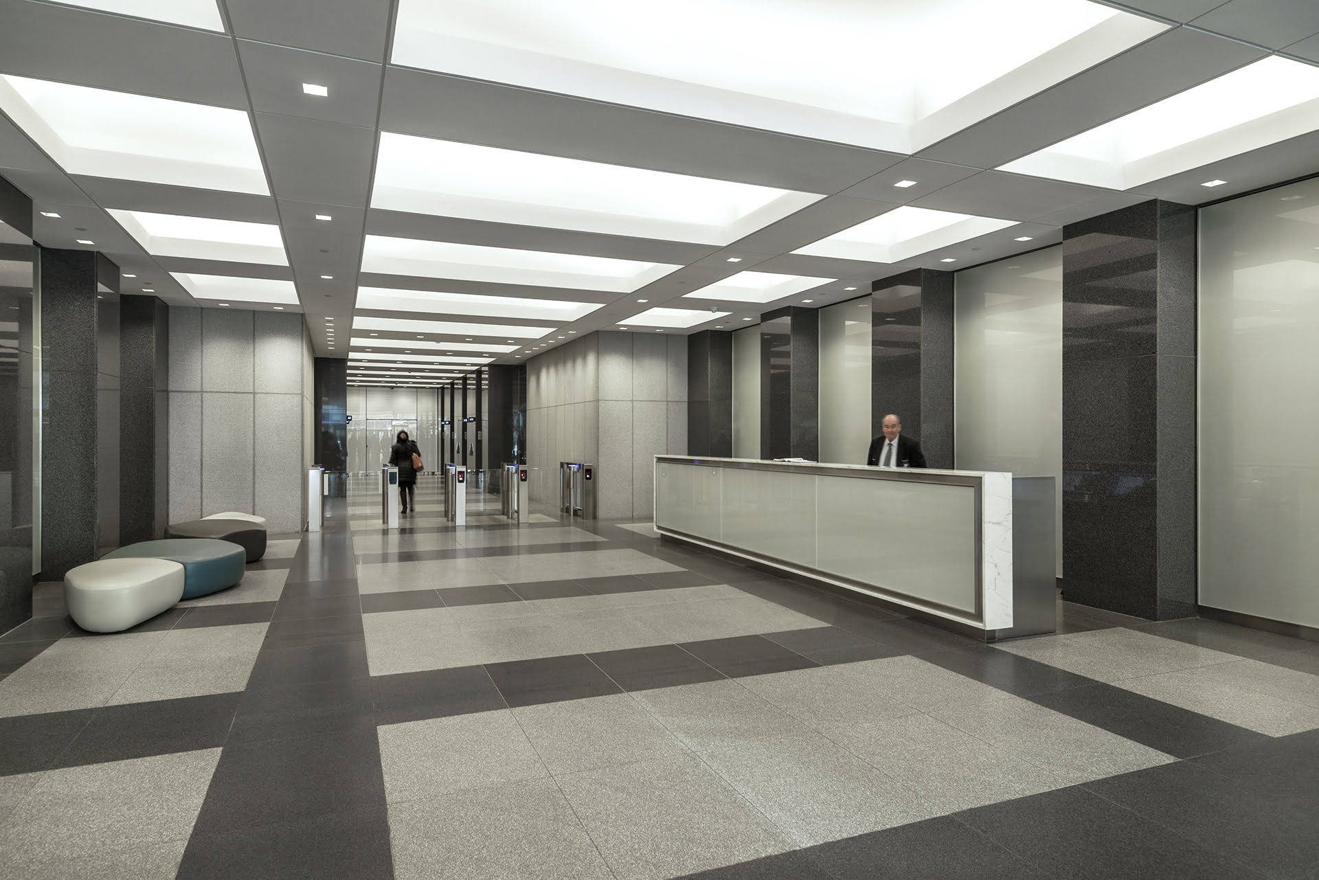 View of interior lobby at 255 Greenwich Avenue