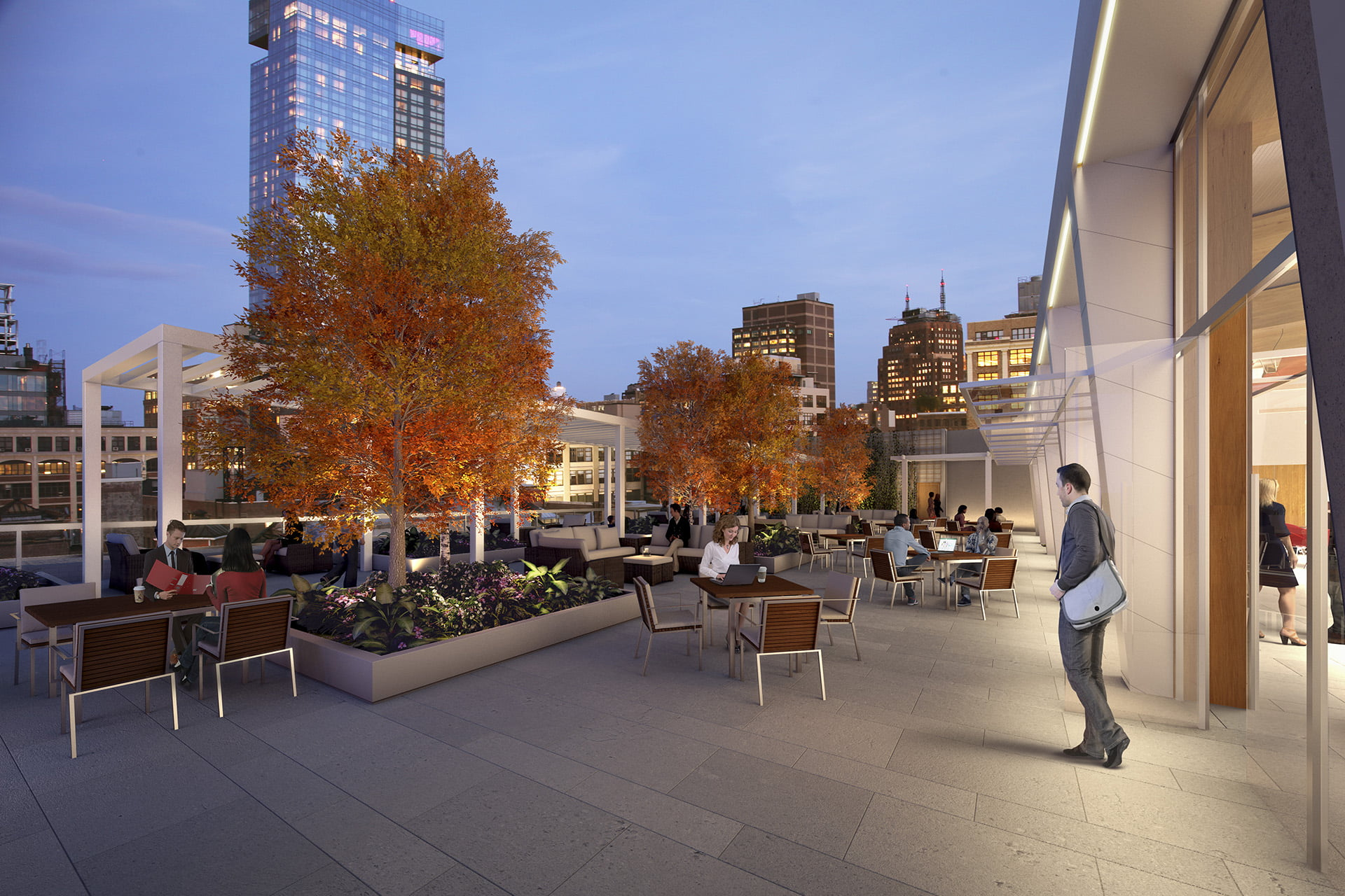 View of 315 Hudson upper exterior terrace