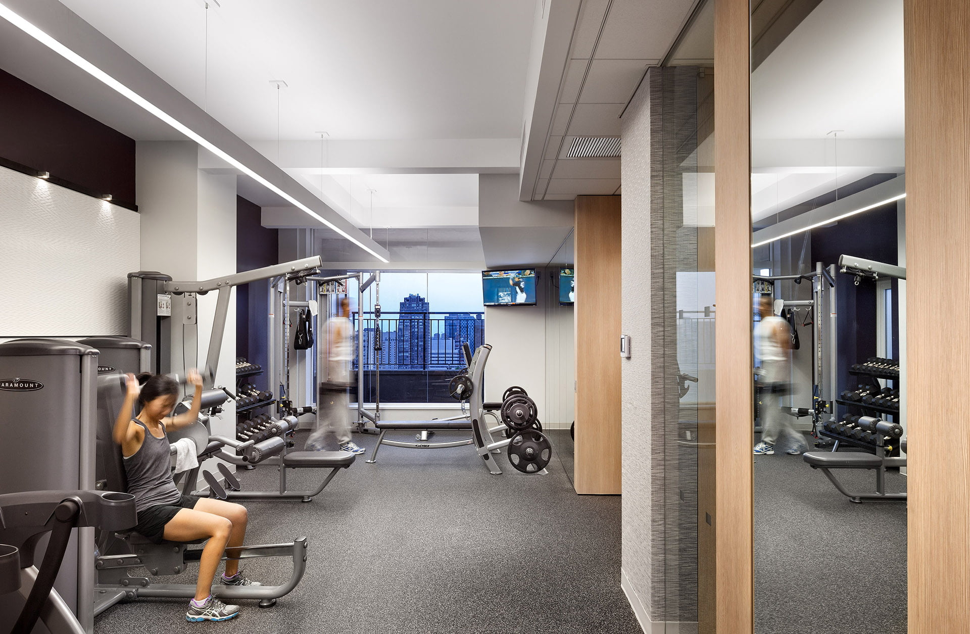 View of health club at Gracie Mews located at 401 East 80th Street.