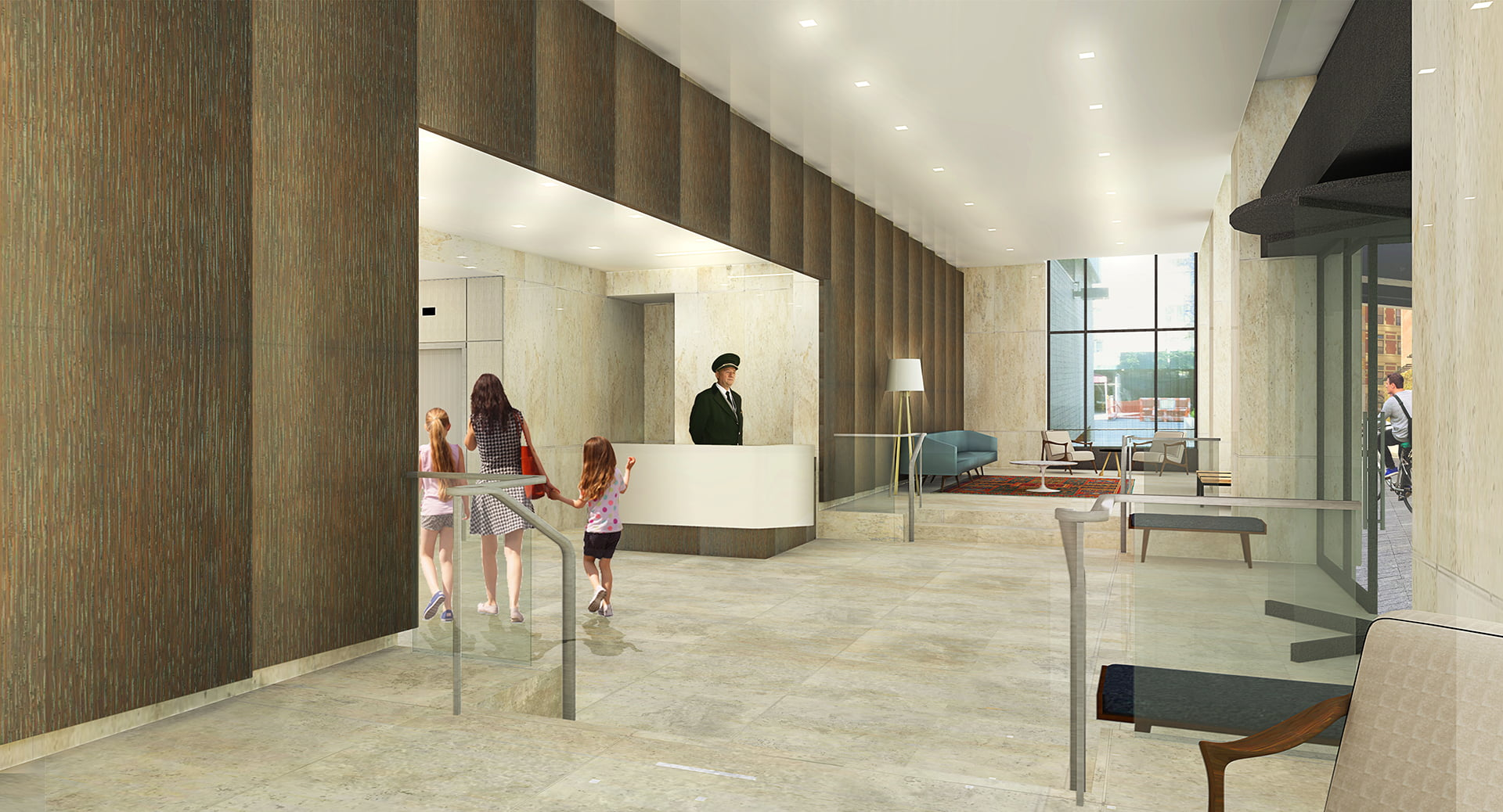 View of interior lobby at Gracie Mews located at 401 East 80th Street