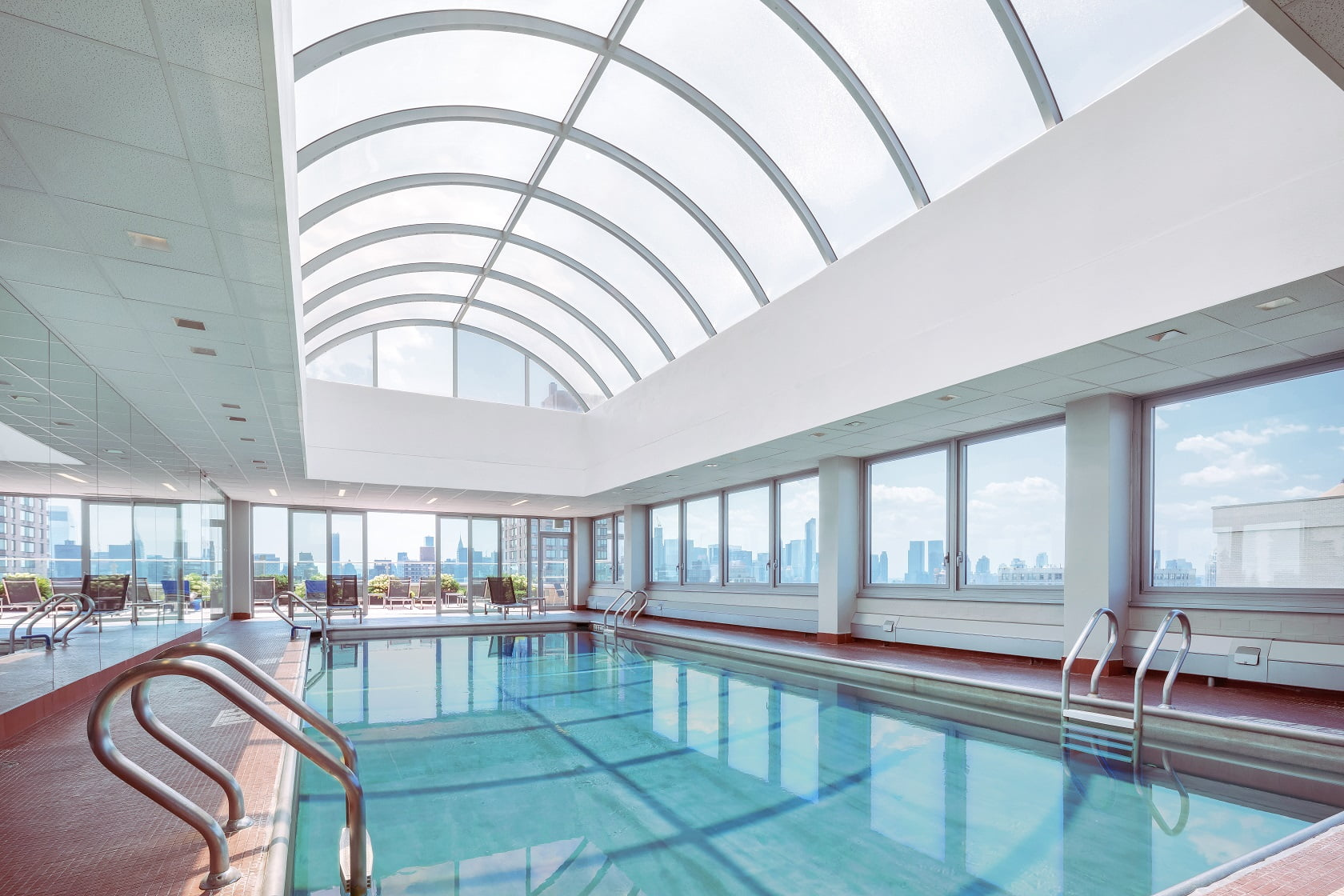 View of interior pool at Gracie Mews Health Club located at 401 East 80th Street