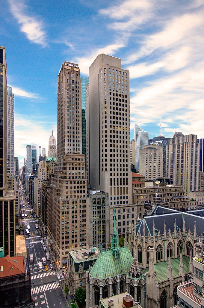 South Manhattan view from 21st floor at 485 Madison Avenue