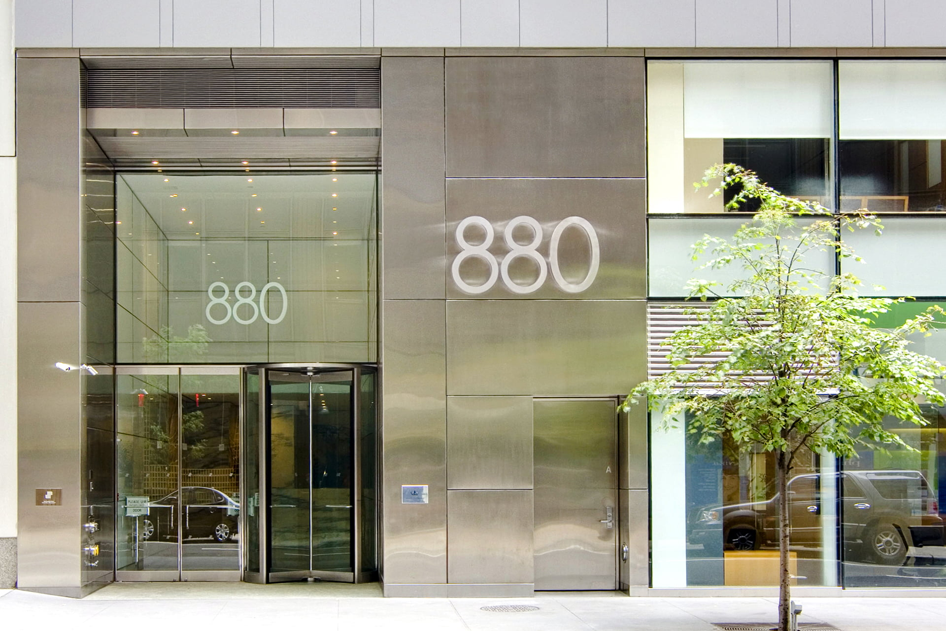 View of exterior entryway at 880 Third Avenue