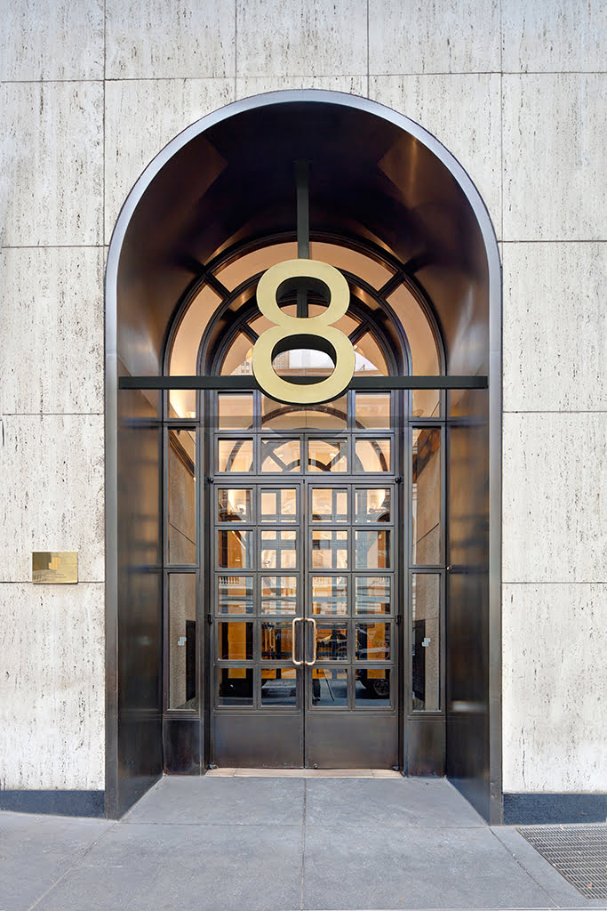 Exterior entryway of 8 West 40th Street.