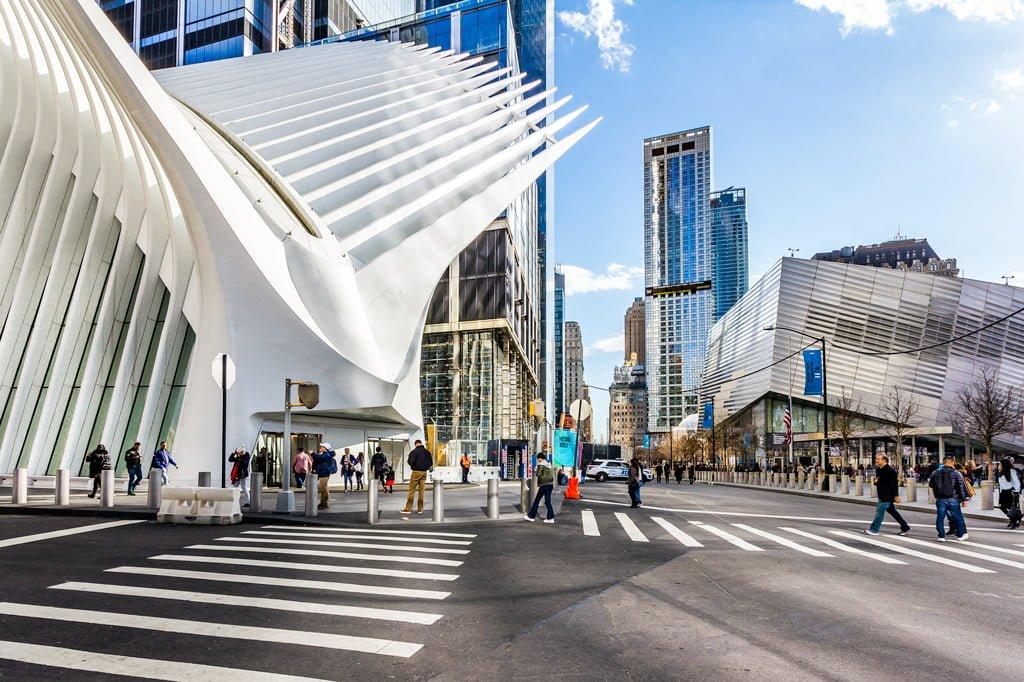 View of World Trade Center Oculus & 911 Memorial
