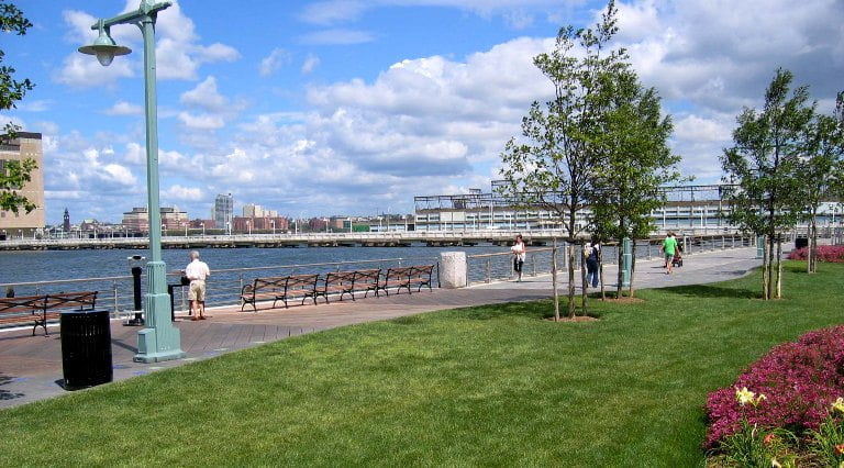 View of Hudson River Park in Tribeca